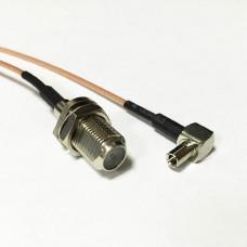Пигтейл, адаптер TS9 - F-мама для USB 3G/4G модемов Huawei и ZTE