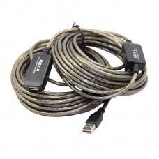 Удлинитель USB 2.0 активный Am-Af 15 метров с экстендером