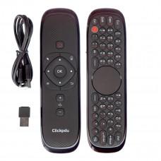Пульт ДУ с гироскопом ClickPDU L Air Mouse W2, Клавиатура c кириллицей, Тачпад, Голосовой поиск (Воздушная мышь)