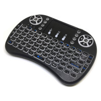 Мини клавиатура беспроводная Backlit с подсветкой и тачпадом, USB, с аккумулятором. Ru/En