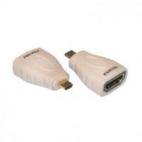 Переходник microHDMI (M)-HDMI (F) позолоченный Premier 5-895G