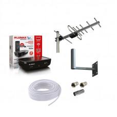 Комплект для приёма цифрового ТВ DVB-T2 Дача-4 до 50 км.