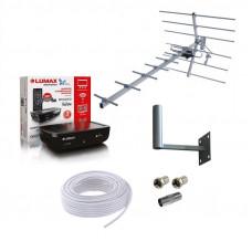 Комплект для приёма цифрового ТВ DVB-T2 Дача-1 до 25 км.