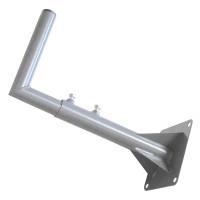 Кронштейн стеновой для внешней антенны Г-образный телескопический вынос 30-50 см