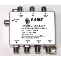 Мультисвитч LANS LCT-LS34 3x4 радиальный активный