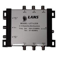 Мультисвитч LANS LCT-LS36 3x6 радиальный активный