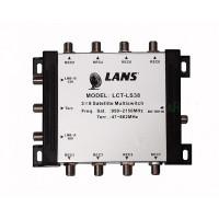 Мультисвитч LANS LCT-LS38 3x8 радиальный активный