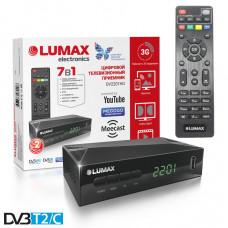 Lumax DV-2201HD DVB-T/T2/С Цифровой эфирный / кабельный приемник с обучаемым пультом ДУ