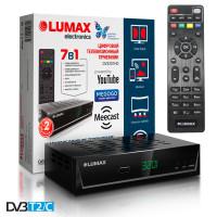 Lumax DV-3201HD DVB-T/T2/C Цифровой эфирный кабельный приемник с обучаемым пультом ДУ