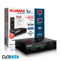 Lumax DV-3208HD DVB-T/T2/C Цифровой эфирный кабельный приемник, приставка, ресивер