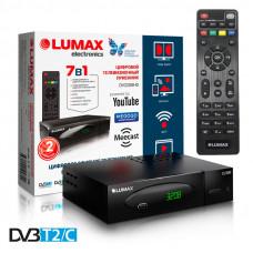 Lumax DV-3208HD DVB-T/T2/C Цифровой эфирный кабельный приемник с обучаемым пультом ДУ