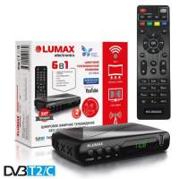 Lumax DV-1108HD DVB-T/T2/С Цифровой эфирный / кабельный приемник с обучаемым пультом ДУ