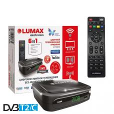 Lumax DV-2108HD DVB-T/T2/C Цифровой эфирный / кабельный приемник с обучаемым пультом ДУ