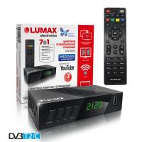 Lumax DV-2120HD DVB-T/T2/C Цифровой эфирный приемник с обучаемым пультом ДУ