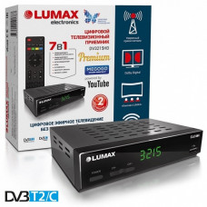 Lumax DV-3215HD DVB-T/T2/C Цифровой эфирный кабельный приемник с обучаемым пультом ДУ
