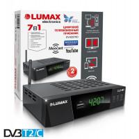 Lumax DV-4207HD DVB-T/T2/C Цифровой эфирный кабельный приемник с обучаемым пультом ДУ и WiFi