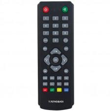 Пульт ДУ HUAYU малый для Lumax DVB-T2/C приемников, приставок, ресиверов (HOB818/T-303SD)