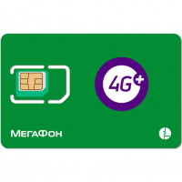 СИМ карта Мегафон 4G LTE/3G/2G для модемов и роутеров (аб. плата 790 руб/мес.)