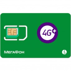 СИМ карта Мегафон 4G LTE для модемов и роутеров (аб. плата 400 руб/мес.)