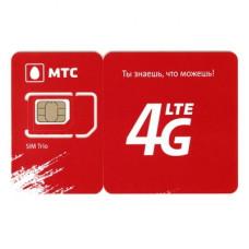 СИМ карта МТС 4G LTE/3G/2G для модемов и роутеров (аб. плата 990 руб/мес.)