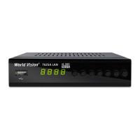 World Vision T625A LAN DVB-T/T2/C Цифровой эфирный / кабельный приемник с обучаемым пультом ДУ