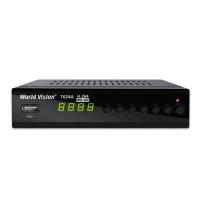 World Vision T624A DVB-T/T2/C Цифровой эфирный / кабельный приемник с обучаемым пультом ДУ