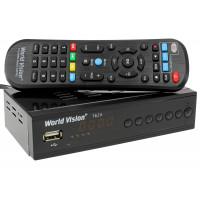 World Vision T62A LE DVB-T/T2/C Цифровой эфирный / кабельный приемник с обучаемым пультом ДУ