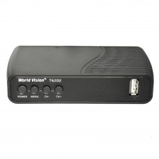 World Vision T62D2 DVB-T/T2/C Цифровой эфирный / кабельный приемник, приставка, ресивер