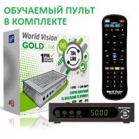 World Vision T64LAN DVB-T/T2/C Цифровой эфирный / кабельный приемник с обучаемым пультом ДУ