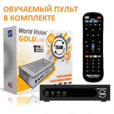 World Vision T64M DVB-T/T2/C Цифровой эфирный / кабельный приемник с обучаемым пультом ДУ